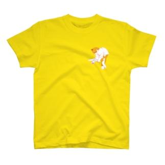 【赤ドット】猫功夫(猫カンフー)  T-shirts
