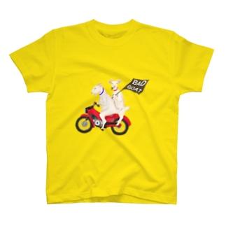 バイクとヤギさん(あめちゃんとはるくん) T-Shirt