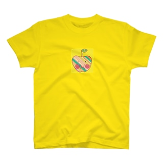 福島発信リンゴちゃん黄色 T-shirts