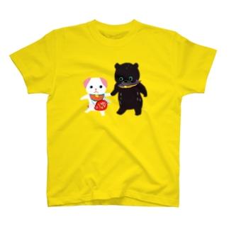 TOYTOY<鯛狆と木彫りの熊> T-shirts