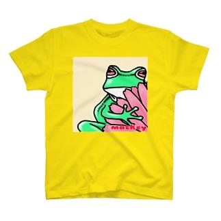 名刺のカエル・赤 T-shirts