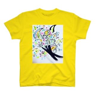 宇宙&Pops君&謎のパラソル銀河団!🌟🌎🍡🚣🌟 T-shirts