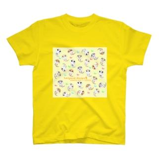 おすわりレオパラダイス(イエロー) T-shirts