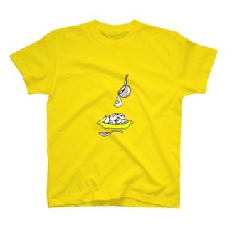 ぽよぽよパンダ 召しあがれ T-shirts