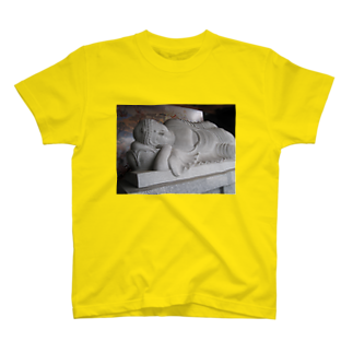 セラピストヤマモトの釈尊 涅槃像グッズ T-shirts