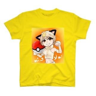 mi-ya.ニャース_イラスト T-shirts