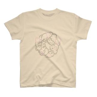 ハートのわんこ Tシャツ