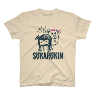 "SUKARUKIN ""ずんどこ・ワン""  Tシャツ"