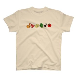 ヒゲ弁当(横) Tシャツ