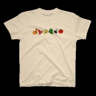 リカ蔵~rikagura~のヒゲ弁当(横)Tシャツ