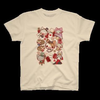 aska/ねこのかんづめのねこかんアリスTシャツ