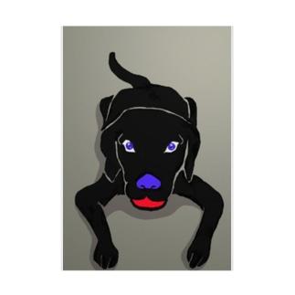 黒い犬 Stickable poster