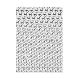 どどねこ-びっしり- Stickable tarpaulin