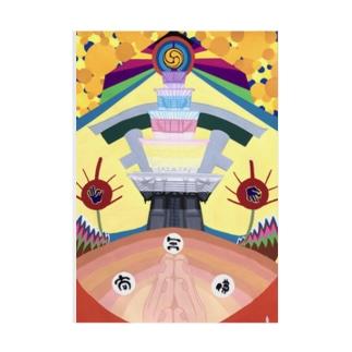 四天王寺-shitennoji- Stickable tarpaulin