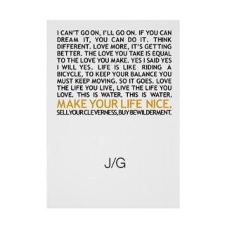 J/G MAKE YOUR LIFE NICE 吸着ターポリン