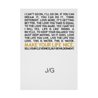 J/G MAKE YOUR LIFE NICE Stickable tarpaulin