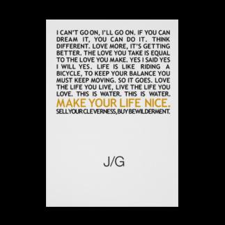 John GastroのJ/G MAKE YOUR LIFE NICE Stickable tarpaulin