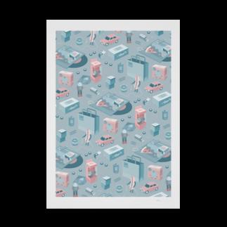 matsuda natsuruのtoy Stickable tarpaulin