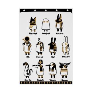 とーとつにエジプト神 11柱 A2 吸着ターポリン