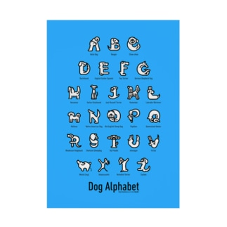 DogAlphabet-blue 吸着ターポリン