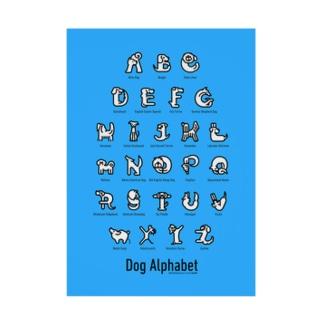DogAlphabet-blue Stickable Poster