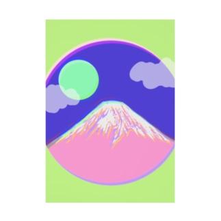 フジヤマ - fuji - Stickable tarpaulin