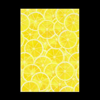 カルショップのレモンイラストの吸着ターポリン Stickable tarpaulin