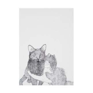 ギュッとする猫 吸着ターポリン