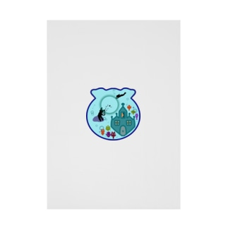アクアリウムとおとぎ話【なんちゃって人魚姫】 Stickable tarpaulin