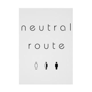 neutral route [Black] Stickable poster