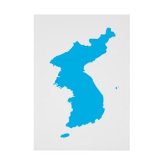 統一朝鮮旗 General Korea flag Stickable tarpaulin
