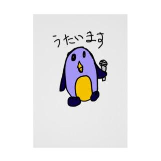 歌うペンギン Stickable tarpaulin