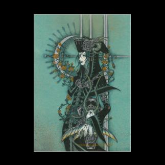 THORES柴本(トーレスしばもと) THORES Shibamotoの翡翠の空が花月を遵えて Stickable tarpaulin