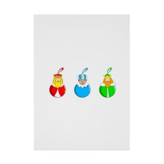 Caspar, Melchior and Balthazar.   Christmas baubles with Three Wise Men. Stickable tarpaulin