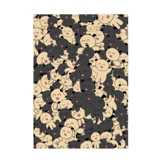 ぱぐちゃんいっぱい Stickable tarpaulin