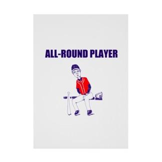 野球デザイン「オールラウンドプレイヤー」 Stickable tarpaulin