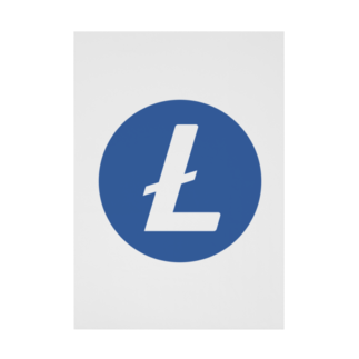 OWLCOIN ショップのLitecoin ライトコイン Stickable tarpaulin