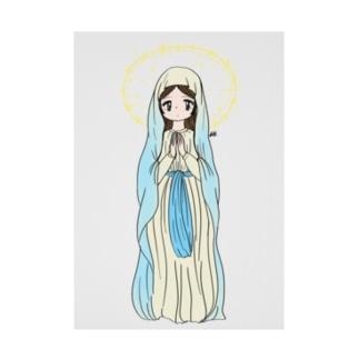 祈る女の子 Stickable tarpaulin