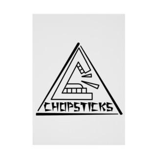 CHOPSTICKS 三角ロゴ 黒線 吸着ターポリン