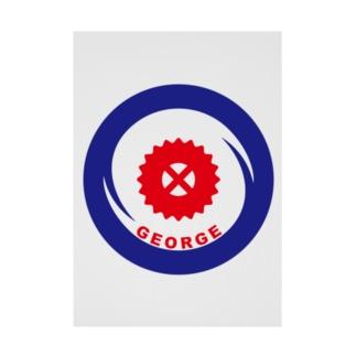 パ紋No.3338 GEORGE Stickable tarpaulin