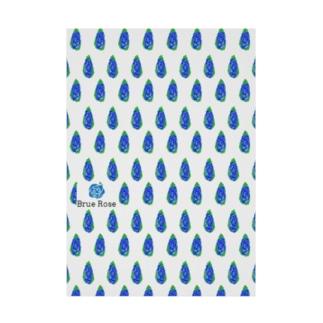 simple blue Stickable tarpaulin