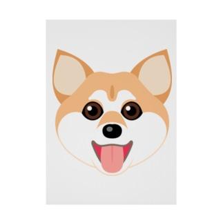 かわいい柴犬 Stickable tarpaulin