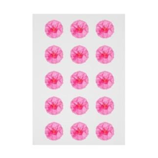 並びお花 Stickable tarpaulin