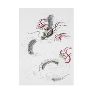 和風ドラゴン Japanese Dragon Stickable tarpaulin