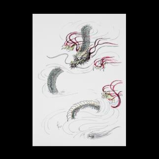 AnomaliA-Nachiの和風ドラゴン Japanese Dragon Stickable tarpaulin