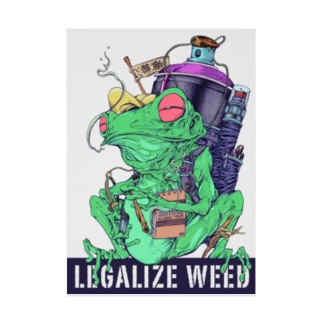 LEGALIZE IT FROG (SH11NA WORKS) Stickable poster