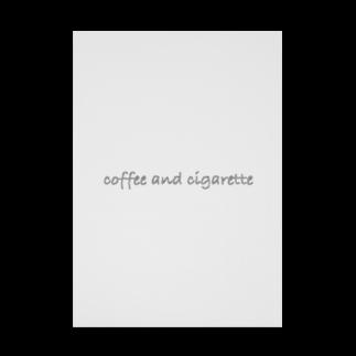 BOOKMARKの珈琲と煙草 Stickable tarpaulin