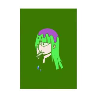 緑単眼 Stickable tarpaulin