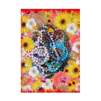 綺麗な花と素敵なジュエリーたちの競演01 Stickable tarpaulin