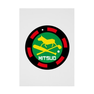 パ紋No.3365 MITSUO  Stickable tarpaulin
